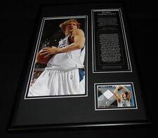 Dirk Nowitzki Framed 12x18 Game Used All Star Shorts & Photo Display Mavericks
