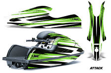 AMR Racing Jet Ski Graphics Wrap Kawasaki SXR 800 Decal Kit 2003-2011 ATTACK GRN