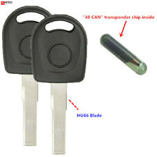 2 Replacement Transponder Chip Key HU66T24PT for Volkswagen Beetle Golf  GTI