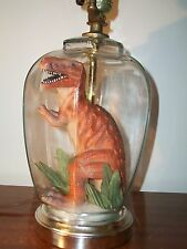 Large t-rex Dinosaur Terrarium Lamp Kitschy Hipster one of a kind!