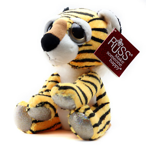 Russ Li'l Peepers Medium Plush - Sitting Tiger