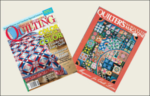 2 Mini Vintage  'QUILTING' Magazines  Dollhouse 1:12  OPENING WITH PAGES