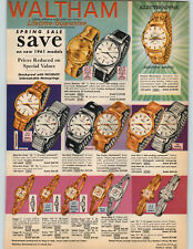 1961 PAPER AD Waltham Wrist Watch Crown Rototron 65 Electrodyne Phinney Walker