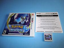 Pokemon Moon (Nintendo 3DS) XL 2DS Game w/Case & Insert