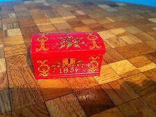 Truhe rot  Lundby 70er Jahre Puppenhaus Puppenstube