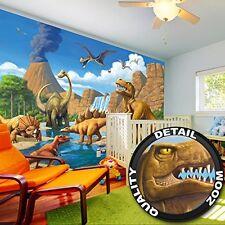 Wallpaper Childrens Room adventure Dinosaur – wall picture decoration Dino