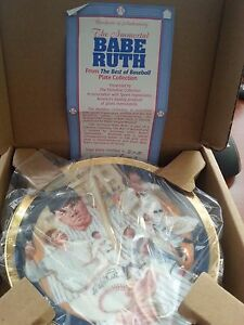 BABE RUTH  From The Best of Baseball Plate Collection PLATE #510B
