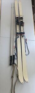 Dynastar Omega Skis with Silvretta Adjustable bindings And Ski Poles