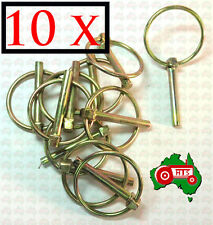 "10 X 6 mm 1/4"" Lynch Linch Pin Locking Tractor Implement Trailer Caravan Camper"