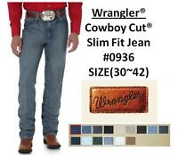 NWT MENS Wrangler® Cowboy Cut® Slim Fit Jean(#0936) 12 Colors