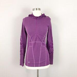 Athleta medium 1/2 Zip Pullover Top Jacket Hooded Purple