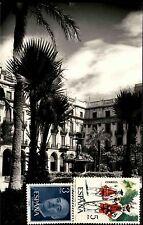 Barcelona Spain Tarjeta Psotale AK ~1970 frankiert vorne Espana Mischfrankatur