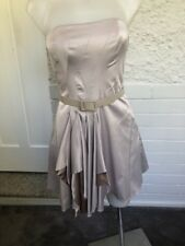 Ladies Silver Pilgrim Strapless Boned Dress With Belt Size 8