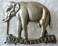 19th PWO Hussars Cavalry British Army Cap Badge WM 2 Lugs ANTIQUE Original