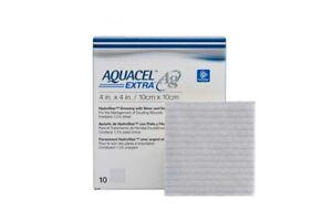"Aquacel Extra Ag 10 x 10cm (4 x 4"") wound dressing  X10"