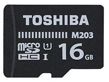 Toshiba MicroSDHC Class 10 16gb Exceria M203 R100 Adatt. Thn-m203k0160ea
