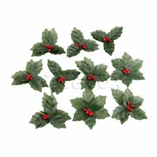 Christmas Party Flower Silk Leaf DIY Artifical Berry Leaves Party Decoration 10x
