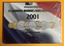 FRANCE 2001 SERIE BRILLANT UNIVERSEL FDC 70 - SCELLE - MONNAIES en CUPRO-NICKEL.