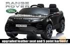 LICENSED BLACK 2021 RANGE ROVER EVOQUE 12V ELECTRIC KIDS CHILDS RIDE ON JEEP CAR