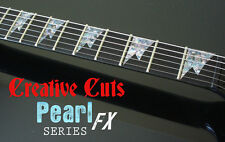 Shark Tooth ABALONE Fretboard Markers Inlay Stickers Decal Set for ANY GUITAR