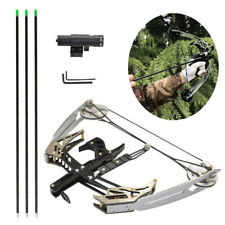 """25lbs Mini Compound Bow Arrow Set 14"""" Right Left Hand Archery Target Laser Sight"""