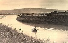 Vintage Postcard: The Outlet of the Jordan from Sea of Galilee, Israel ca. 20s