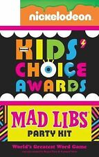 Nickelodeon Kids' Choice Awards Mad Libs Party Kit by Roger Price & Leonard NEW