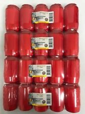 20 Grablichter Öllichter Nr.3 bolsius rot im Karton RAL-Gütezeichen