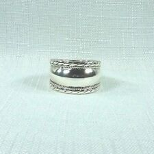 Sterling Silver Double Rope Armor Ring US (7 1/2) AU (P)