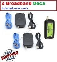 2 PACK - DIRECTV Broadband DECA Ethernet to Coax Adapter - Third Generation
