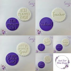 Teacher Best Teacher Cookie Embosser Stamp Cupcake Fondant Stamp Icing Stamp