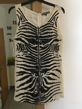 BIBA SEQUIN DRESS.  SIZE 8.  WHITE & BLACK.