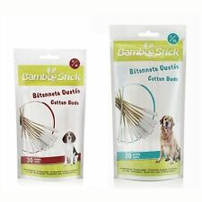 BambooStick Absorbent Cotton Buds for Ear Cleaning in Dogs x 30