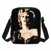 Marilyn Monroe Small Crossbody Shoulder Bag Messenger Bags Canvas Wallet Girls