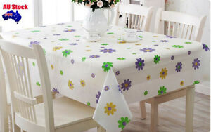 Flower Printed 130x180cm  Rectangle Plastic Party TableCloth Cover table cloth