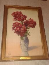 Aquarelle  KOECHLIN-SCHWARTZ  Crimson rambler  Galerie Georges PETIT Paris 1927