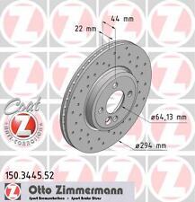 BMW e87 série 1 front paire de zimmermann disques de frein sport (34116768933)