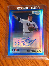 Tony Wolters Autographed 2010 Bowman Chrome BLUE Refractors #USA-TW  RC - /99