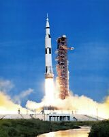 LAUNCH OF APOLLO 15 FROM KENNEDY SPACE CENTER - 8X10 NASA PHOTO (MW468)