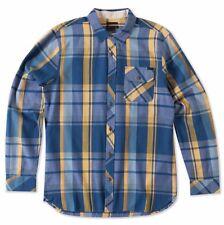 O'Neill COMMANDO Mens 100% Cotton Button Front Shirt Size Medium Blue NEW