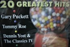 GARY PUCKETT,TOMMY ROE ,DENNIS YOST NEW! CD 20 HITS GREATEST ,FREE SHIP!
