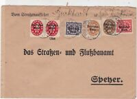 Germany 1922 Bad Durkheim Multiple Cancel & Official Stamps Cover ref 22938
