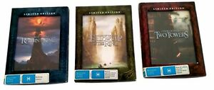 The Lord Of The Rings 1 2 3 Trilogy Limited Edition Window Case DVD Region 4