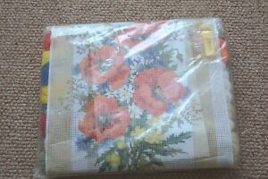 Vintage new needlepoint tapestry kit Poppies complete with wools