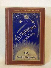 Astronomie Populaire par Camille Flammarion --Couleur Havane--  chez Marpon