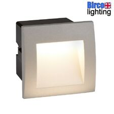 Searchlight 0661GY LED Silver Grey Outdoor Recessed Square Wall Brick Light Ip65