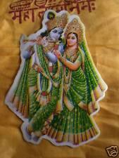 Aufkleber goa psy hippie sticker indien Krishna Radha