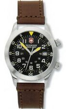 Victorinox Swiss Army Men's AirBoss Black Dial Brown Leather Strap Watch 25040