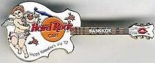 Hard Rock Cafe BANGKOK 2002 Valentine's Day PIN Guitar - HRC Catalog #12686