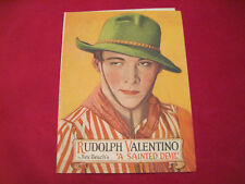 RUDOLPH VALENTINO A SAINTED DEVIL Movie Herald Pamphlet